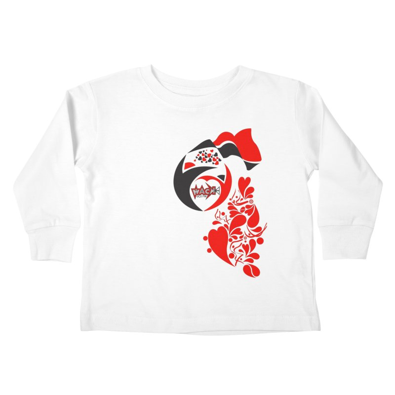 WACK Logo & Hearts no text Kids Toddler Longsleeve T-Shirt by WACK 90.1fm Merchandise Store