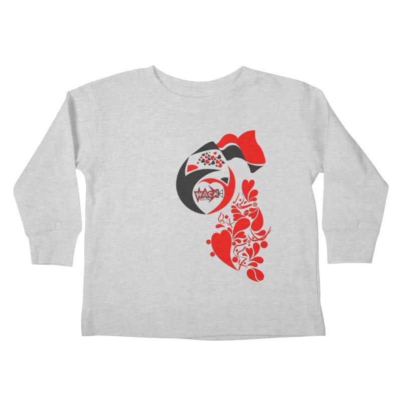 WACK Logo & Hearts no text Kids Toddler Longsleeve T-Shirt by WACK 90.1fm Merchandise Store