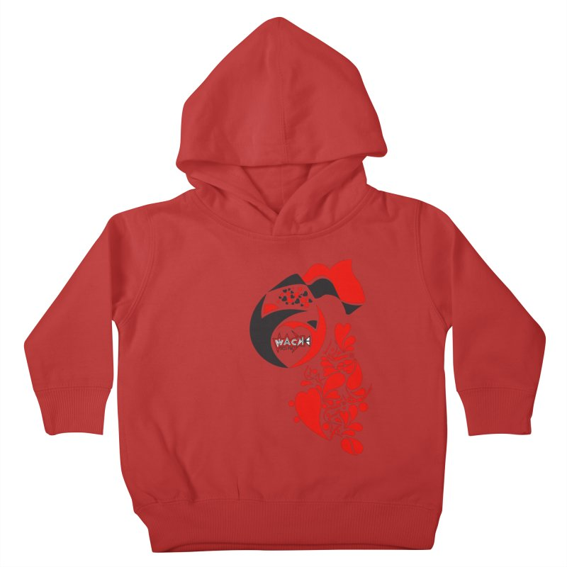 WACK Logo & Hearts no text Kids Toddler Pullover Hoody by WACK 90.1fm Merchandise Store