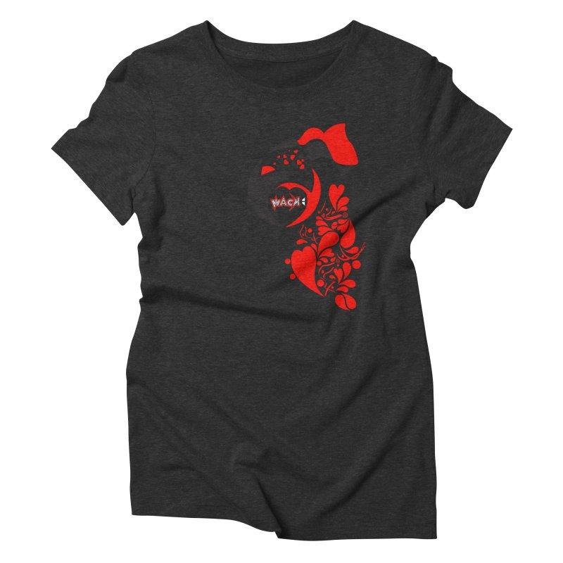 WACK Logo & Hearts no text Women's Triblend T-Shirt by WACK 90.1fm Merchandise Store