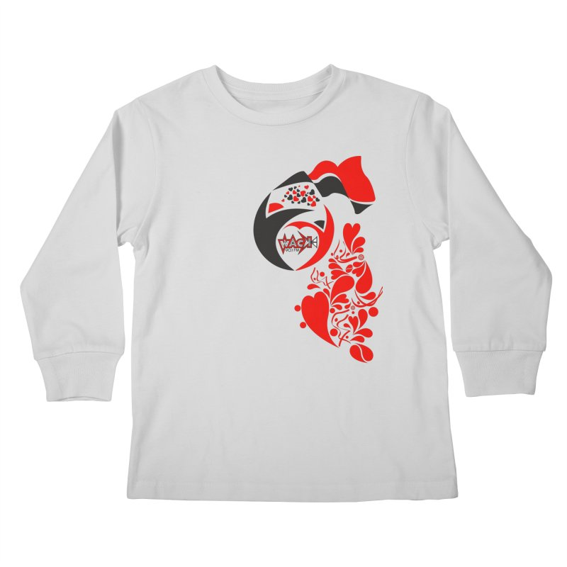 WACK Logo & Hearts no text Kids Longsleeve T-Shirt by WACK 90.1fm Merchandise Store