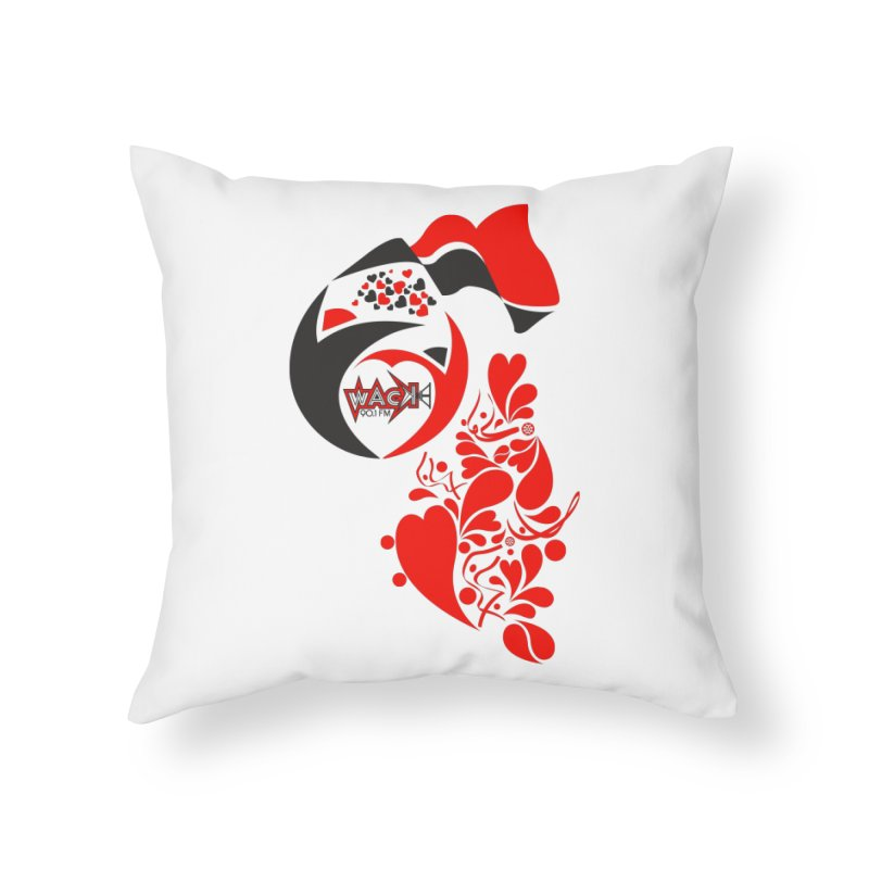 WACK Logo & Hearts no text Home Throw Pillow by WACK 90.1fm Merchandise Store