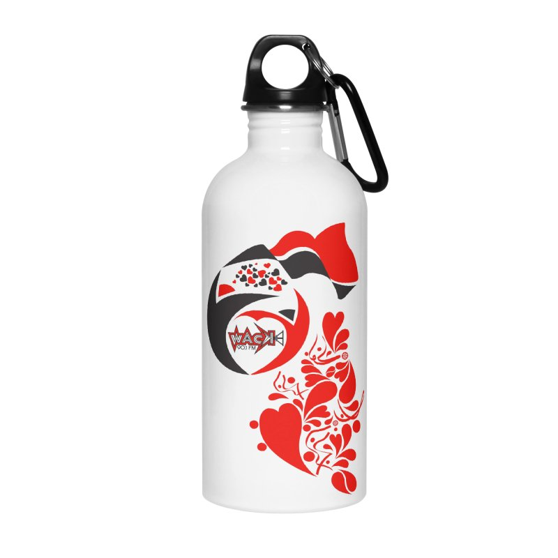 WACK Logo & Hearts no text in Water Bottle by WACK 90.1fm Merchandise Store