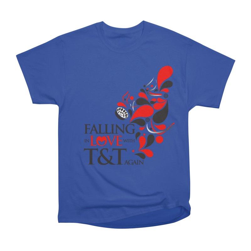 Falling in Love Main logo Women's Heavyweight Unisex T-Shirt by WACK 90.1fm Merchandise Store