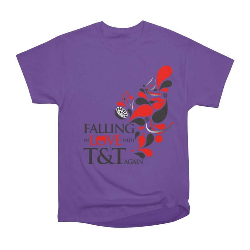 Falling in Love Main logo Men's Heavyweight T-Shirt by WACK 90.1fm Merchandise Store