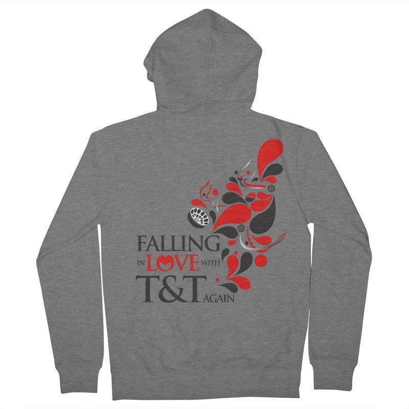 Falling in Love Main logo Women's French Terry Zip-Up Hoody by WACK 90.1fm Merchandise Store
