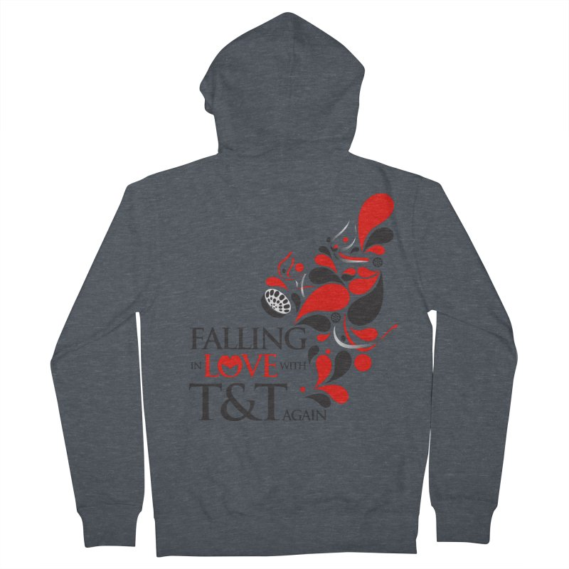 Falling in Love Main logo Men's French Terry Zip-Up Hoody by WACK 90.1fm Merchandise Store