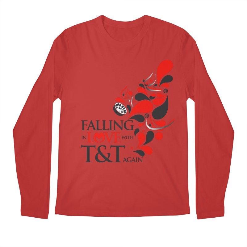 Falling in Love Main logo Men's Regular Longsleeve T-Shirt by WACK 90.1fm Merchandise Store