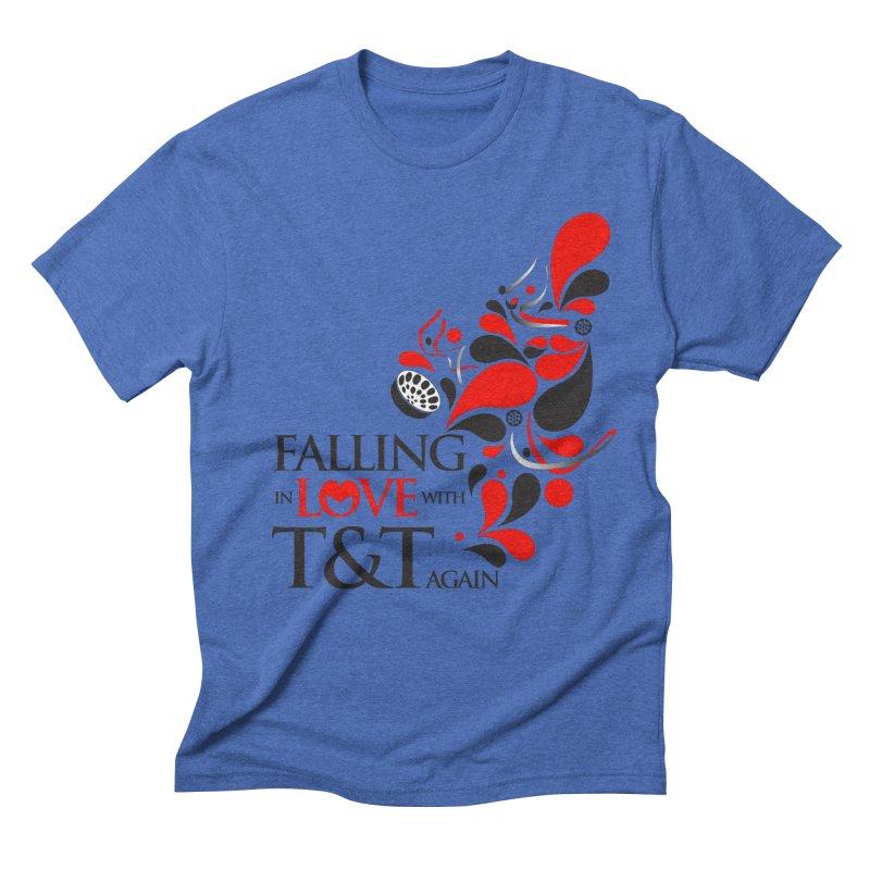 Falling in Love Main logo Men's Triblend T-Shirt by WACK 90.1fm Merchandise Store