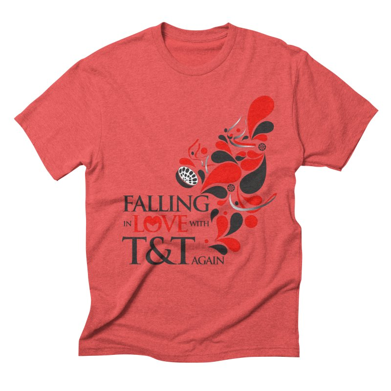 Falling in Love Main logo Men's Triblend T-Shirt by WACK 90.1fm Merchandise Store