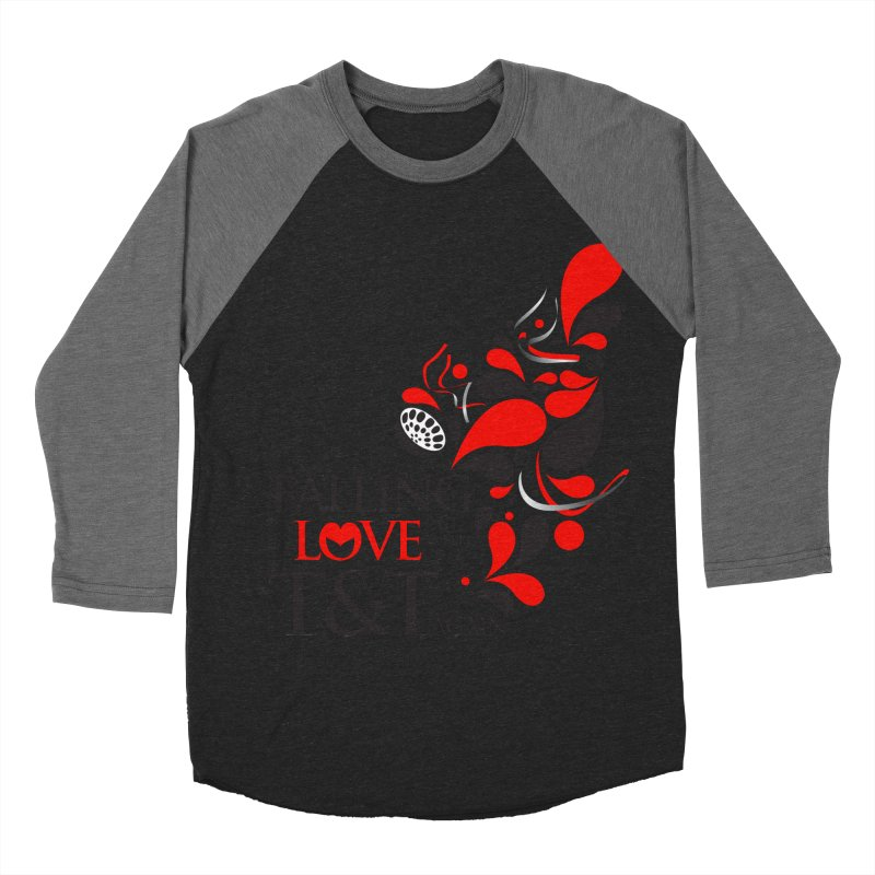 Falling in Love Main logo Women's Baseball Triblend Longsleeve T-Shirt by WACK 90.1fm Merchandise Store