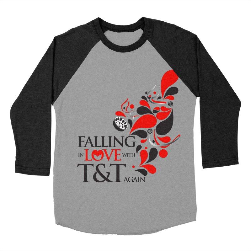 Falling in Love Main logo Women's Baseball Triblend Longsleeve T-Shirt by WACK 90.1fm Merchandise Store
