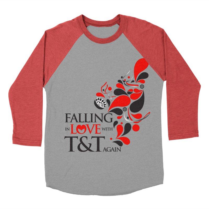 Falling in Love Main logo Men's Baseball Triblend Longsleeve T-Shirt by WACK 90.1fm Merchandise Store