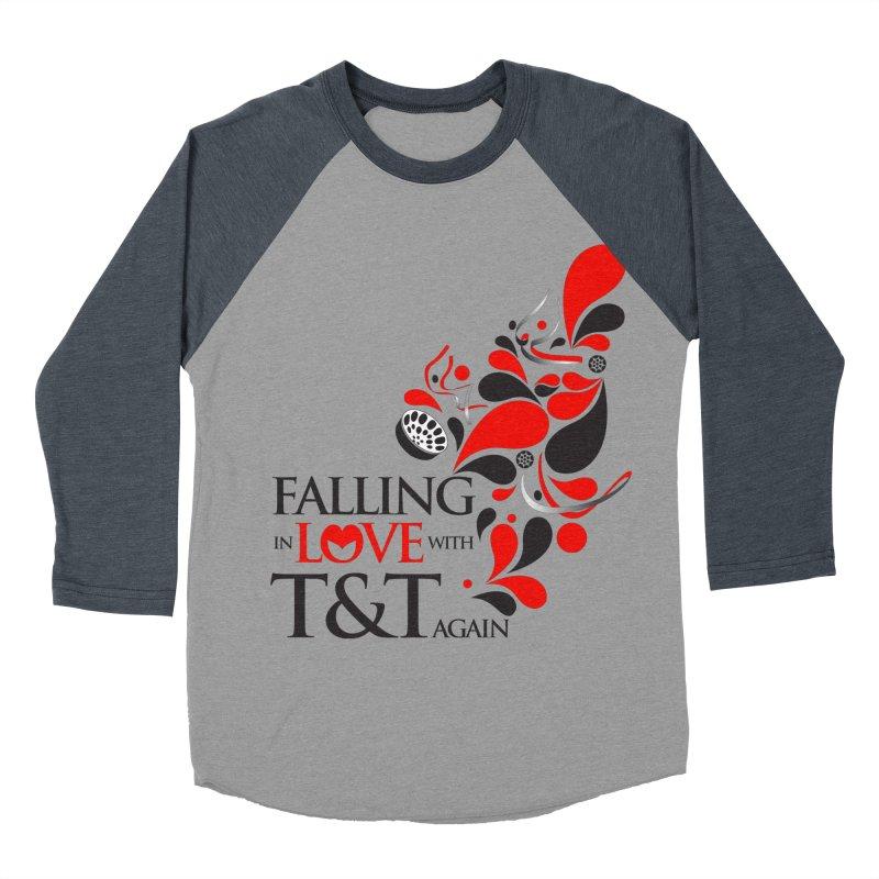 Falling in Love Main logo Men's Baseball Triblend T-Shirt by WACK 90.1fm Merchandise Store