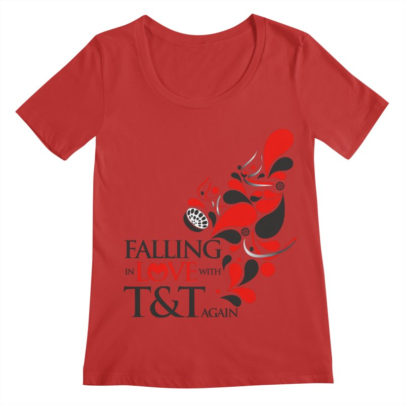 Falling in Love Main logo Women's Regular Scoop Neck by WACK 90.1fm Merchandise Store