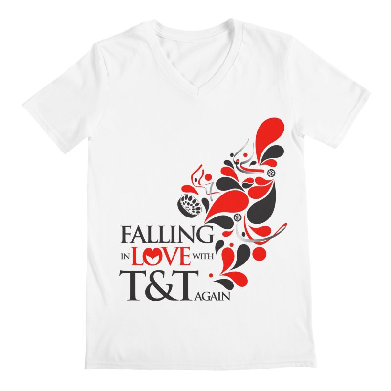 Falling in Love Main logo Men's Regular V-Neck by WACK 90.1fm Merchandise Store