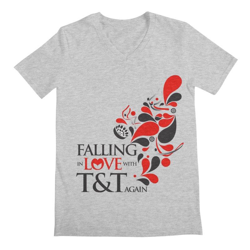 Falling in Love Main logo Men's Regular V-Neck by WACK 90.1fm Merchandise Store