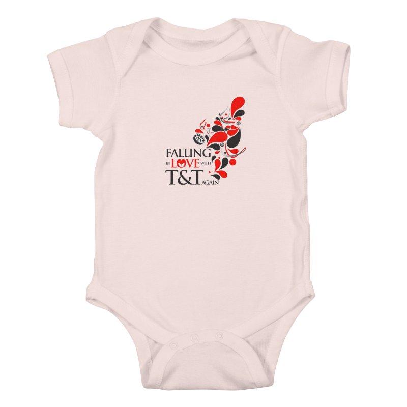 Falling in Love Main logo Kids Baby Bodysuit by WACK 90.1fm Merchandise Store