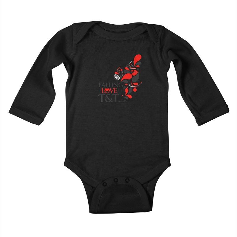 Falling in Love Main logo Kids Baby Longsleeve Bodysuit by WACK 90.1fm Merchandise Store