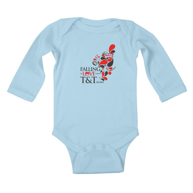 Falling in Love Main logo Kids Baby Longsleeve Bodysuit by WACK 90.1fm Merchandise Store