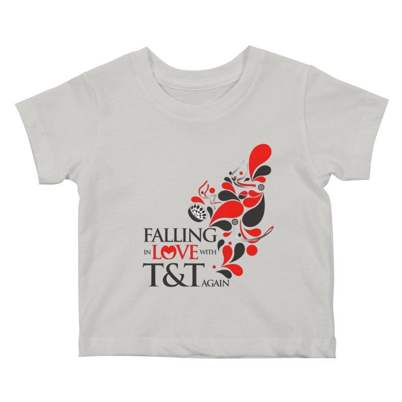 Falling in Love Main logo Kids Baby T-Shirt by WACK 90.1fm Merchandise Store