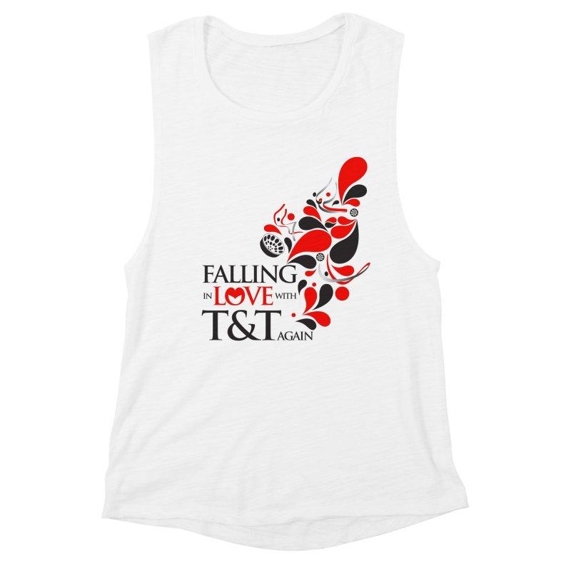 Falling in Love Main logo Women's Muscle Tank by WACK 90.1fm Merchandise Store