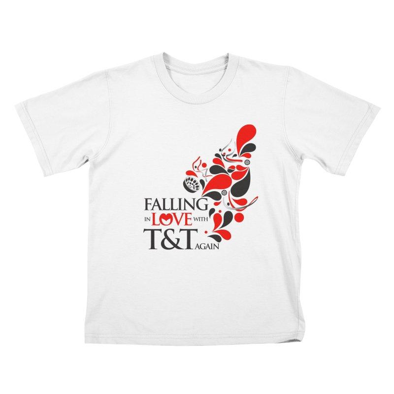 Falling in Love Main logo Kids T-Shirt by WACK 90.1fm Merchandise Store