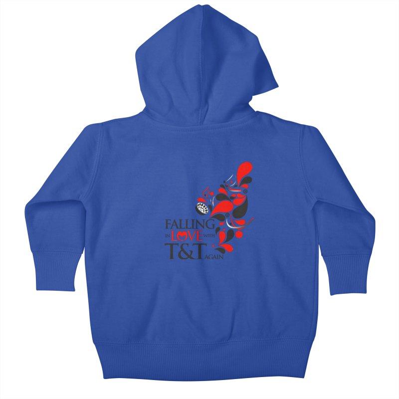 Falling in Love Main logo Kids Baby Zip-Up Hoody by WACK 90.1fm Merchandise Store