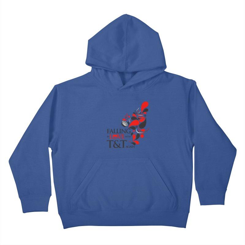 Falling in Love Main logo Kids Pullover Hoody by WACK 90.1fm Merchandise Store