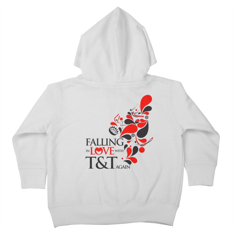 Falling in Love Main logo Kids Toddler Zip-Up Hoody by WACK 90.1fm Merchandise Store