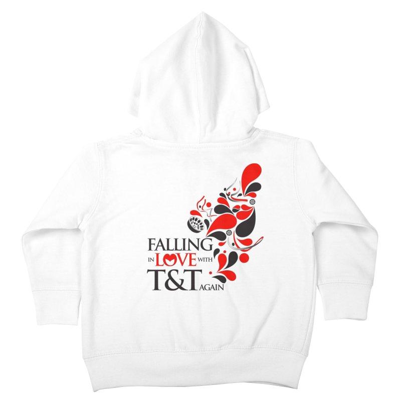 Falling in Love Main logo Kids Toddler Zip-Up Hoody by WACK 90.1fm Merchandise Store