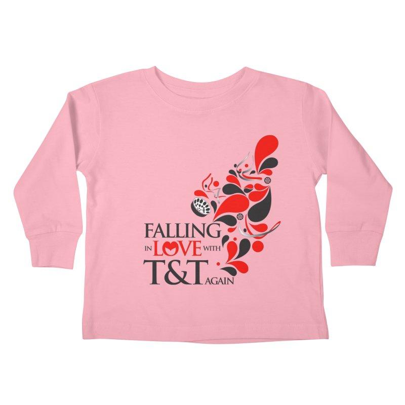 Falling in Love Main logo Kids Toddler Longsleeve T-Shirt by WACK 90.1fm Merchandise Store