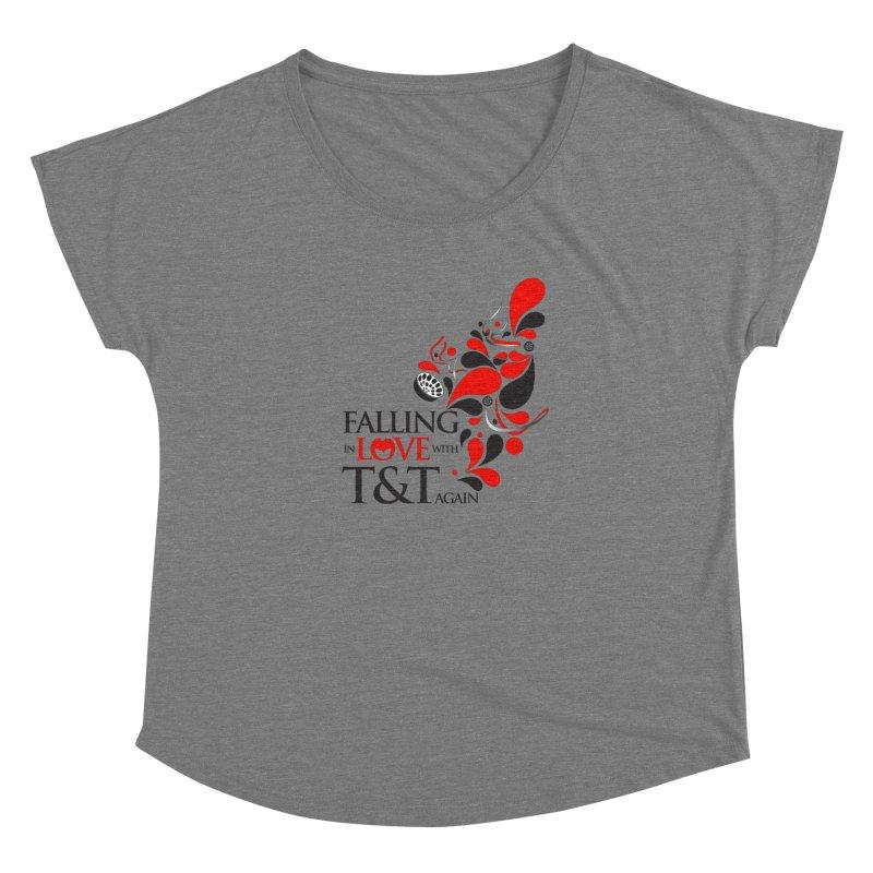 Falling in Love Main logo Women's Scoop Neck by WACK 90.1fm Merchandise Store