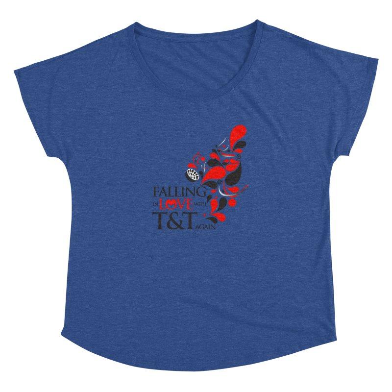 Falling in Love Main logo Women's Dolman Scoop Neck by WACK 90.1fm Merchandise Store