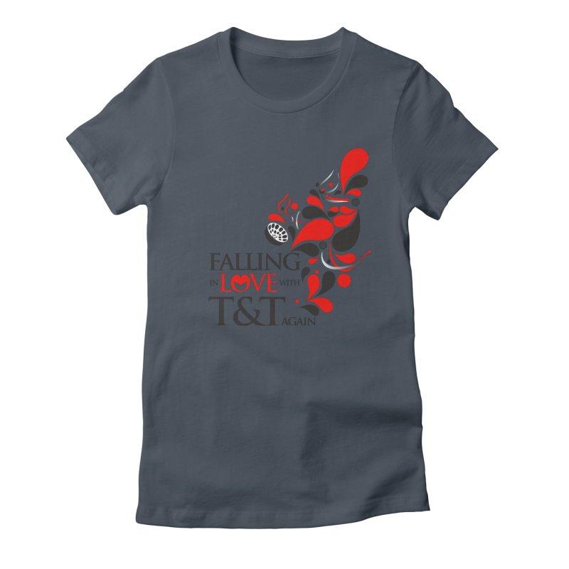 Falling in Love Main logo Women's T-Shirt by WACK 90.1fm Merchandise Store