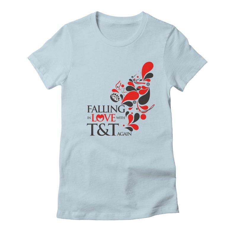 Falling in Love Main logo Women's Fitted T-Shirt by WACK 90.1fm Merchandise Store
