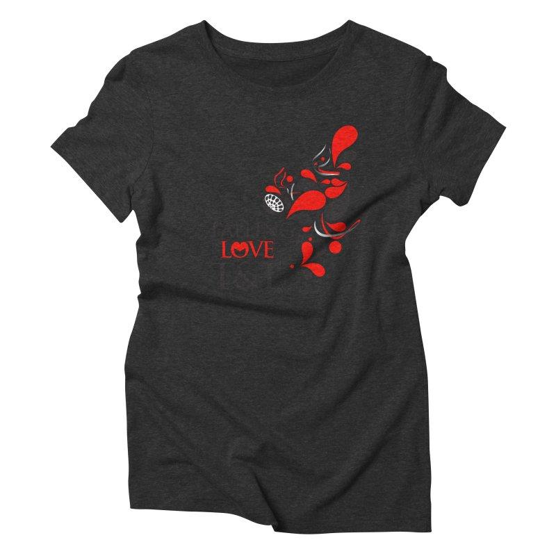 Falling in Love Main logo Women's Triblend T-Shirt by WACK 90.1fm Merchandise Store
