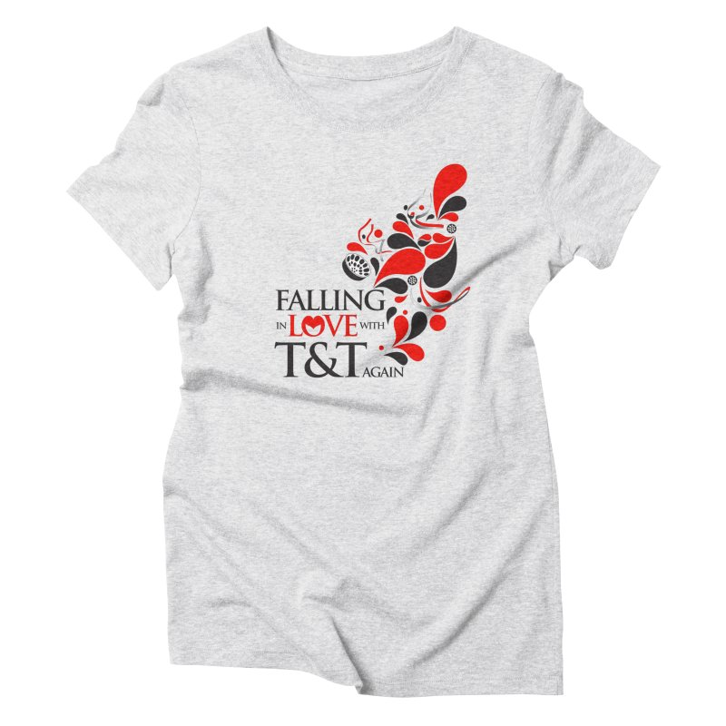 Falling in Love Main logo Women's Triblend T-Shirt by WACK 90.1fm Merchandise Store