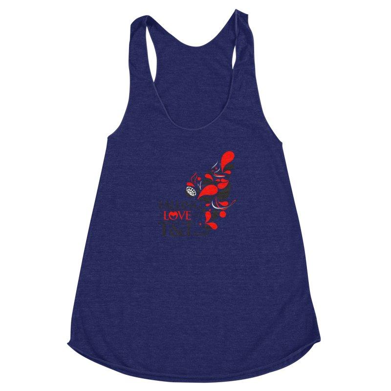Falling in Love Main logo Women's Racerback Triblend Tank by WACK 90.1fm Merchandise Store