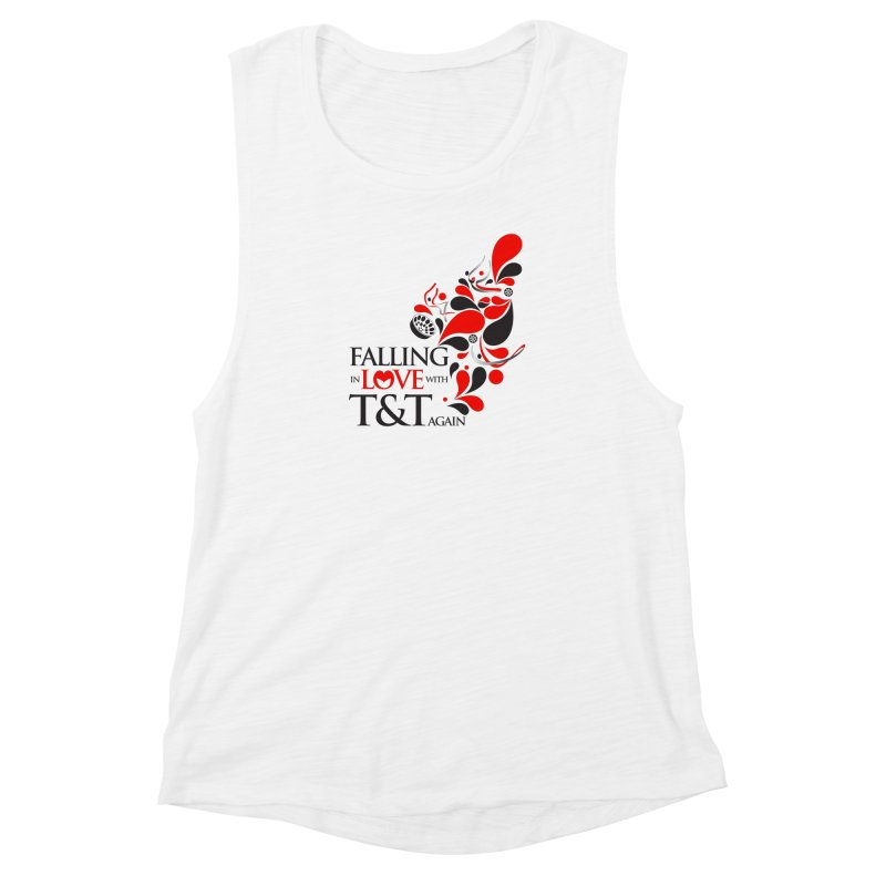 Falling in Love Main logo Women's Muscle Tank by WACK 90.1fm Merchandise Store