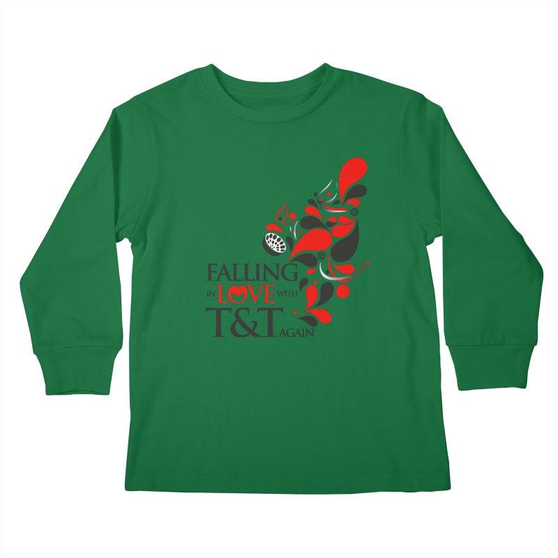 Falling in Love Main logo Kids Longsleeve T-Shirt by WACK 90.1fm Merchandise Store