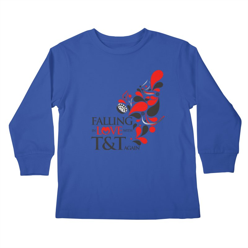 Falling in Love Main logo Kids Longsleeve T-Shirt by WACK 90.1fm Merchandise Store