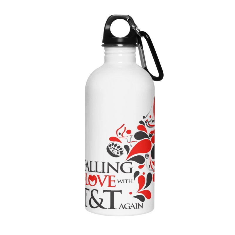 Falling in Love Main logo Accessories Water Bottle by WACK 90.1fm Merchandise Store
