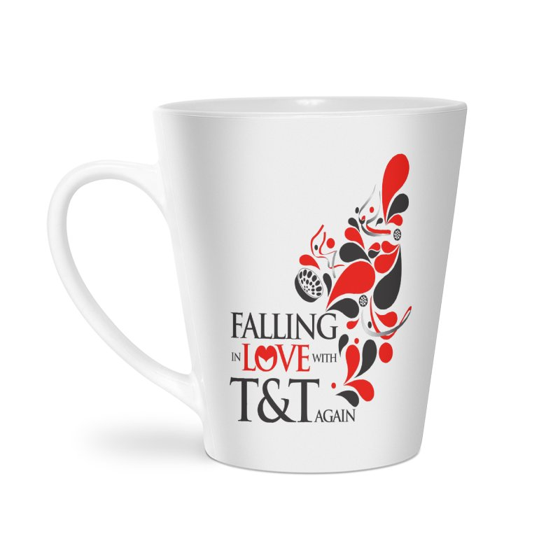 Falling in Love Main logo Accessories Latte Mug by WACK 90.1fm Merchandise Store