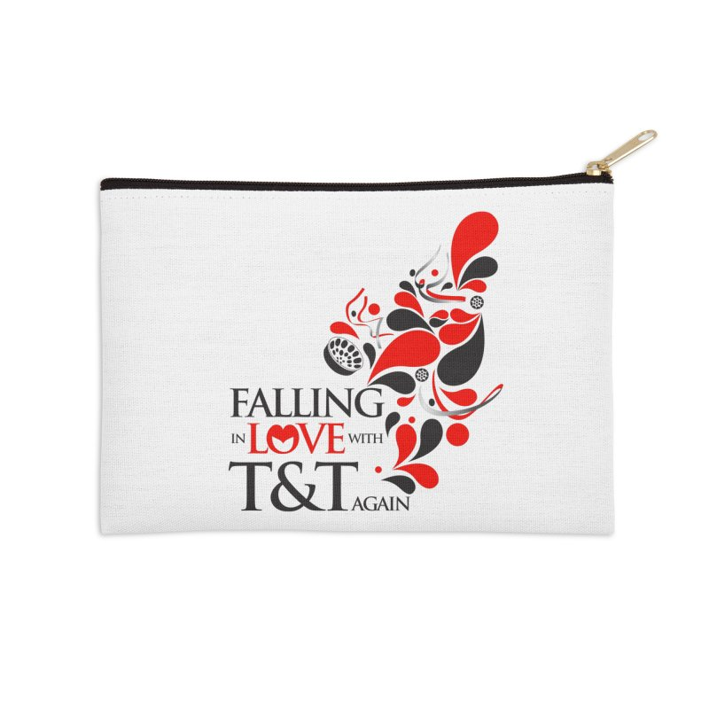 Falling in Love Main logo Accessories Zip Pouch by WACK 90.1fm Merchandise Store