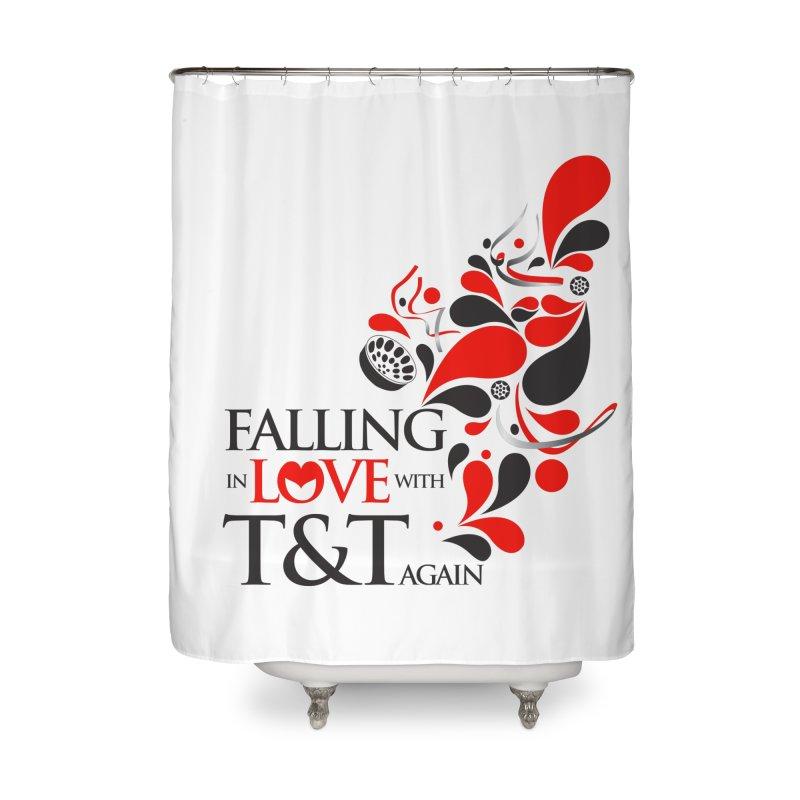 Falling in Love Main logo Home Shower Curtain by WACK 90.1fm Merchandise Store