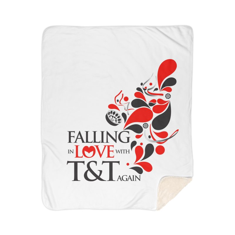 Falling in Love Main logo Home Blanket by WACK 90.1fm Merchandise Store