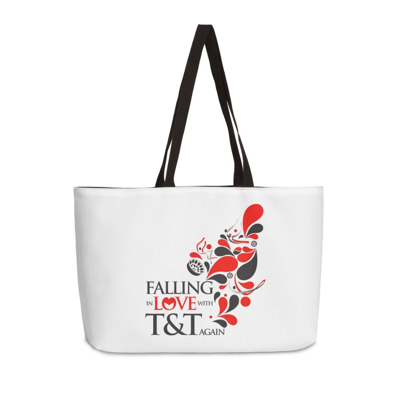 Falling in Love Main logo Accessories Weekender Bag Bag by WACK 90.1fm Merchandise Store