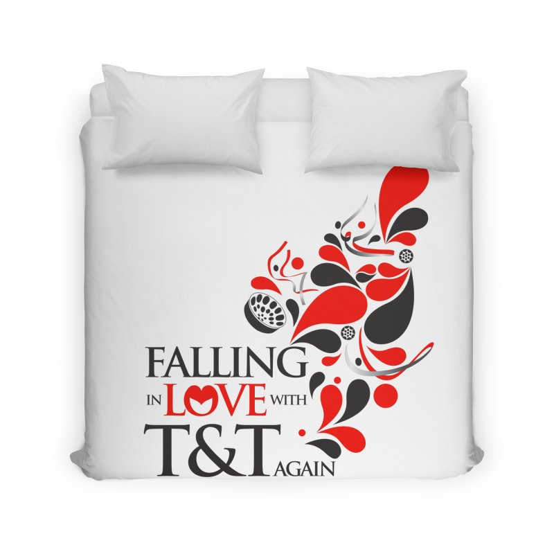 Falling in Love Main logo Home Duvet by WACK 90.1fm Merchandise Store