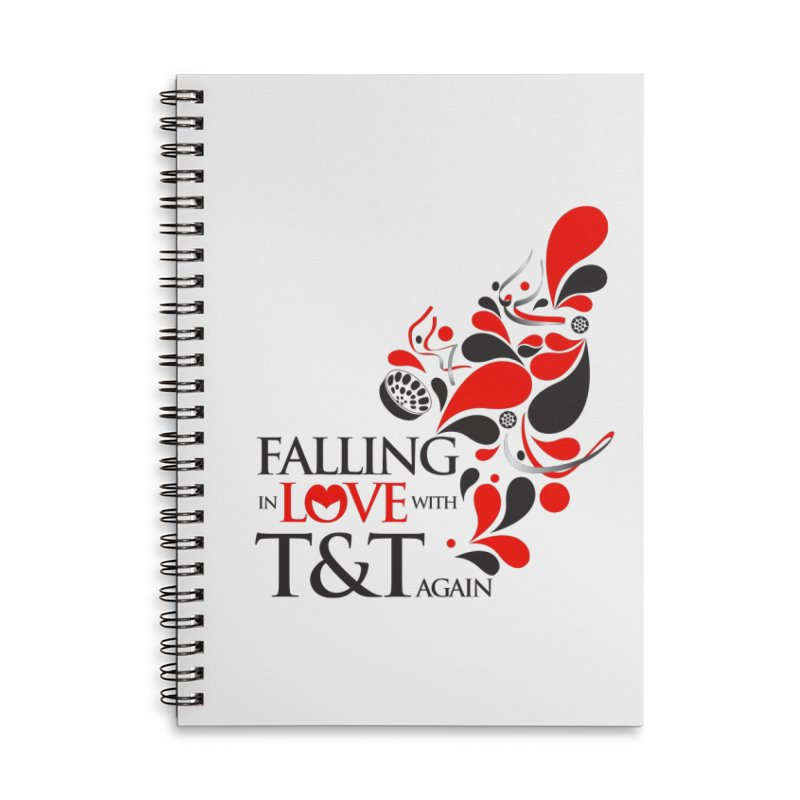 Falling in Love Main logo Accessories Lined Spiral Notebook by WACK 90.1fm Merchandise Store